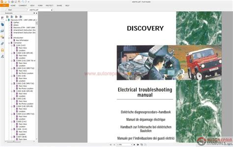land rover discovery i 1997 electrical wiring diagram auto repair manual forum heavy