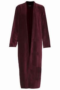 topshop velvet robe in purple burgundy lyst With robe topshop