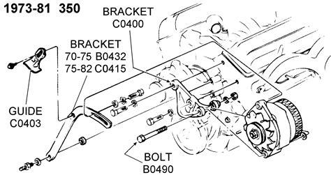 1986 Corvette Smog Diagram by 1973 81 350 Alternator Support Diagram View Chicago