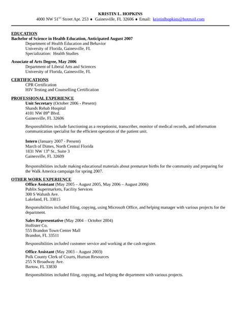 clean unit resume template