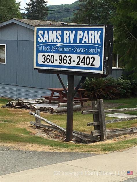 rv park trailer sams bay washington clallam