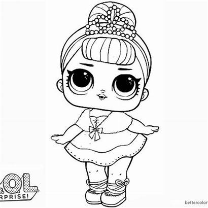 Lol Coloring Mermaid Doll Pages Surprise Printable