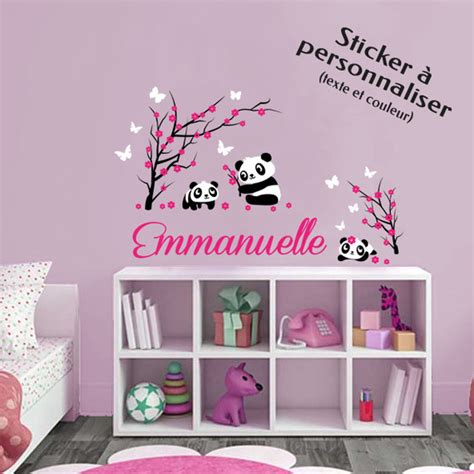 stickers muraux chambre bebe fille paihhi