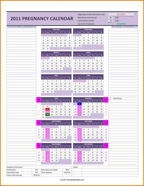 due date week  week pregnancy calendar qualads