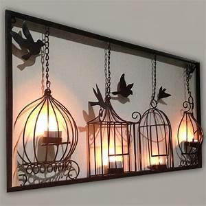 Wall Art Design Ideas: Birdcage Tea Wall Art 3d Metal ...