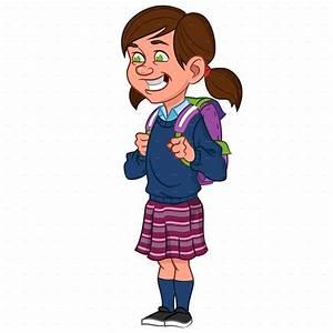 School Girl Clip Art - ClipArt Best