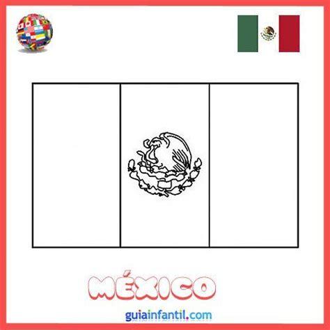 dibujo de la bandera de m 233 xico colorear e imprimir dibujos de banderas de pa 237 ses