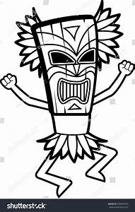 Cartoon Witch Doctor Mask On Stock Vector 230644093 ...