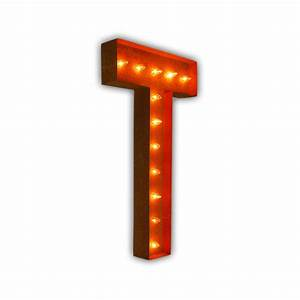 rusty 36 inch letter t marquee light by vintage marquee lights With 36 inch marquee letters
