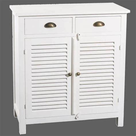 buffets meubles et rangements petit buffet 2 portes 2 tiroirs en bois blanc style charme