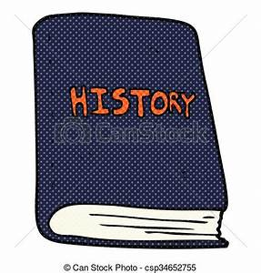 Clipart Vector of cartoon history book - freehand drawn ...