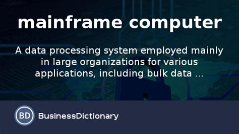 mainframe computer definition  meaning