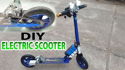 Build A Electric Scooter With Starter Motor Motorcycle And