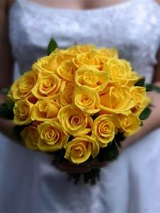 Yellow Rose Bridal Bouquet | Yellow Wedding Flowers