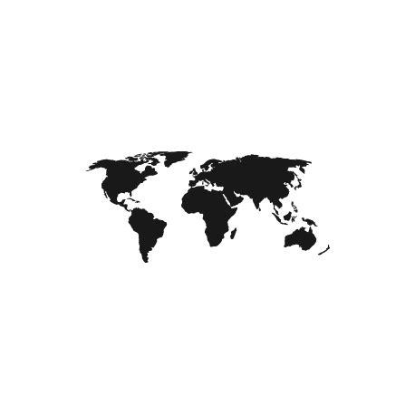 taille meuble cuisine pochoir carte du monde pour une déco d aventures