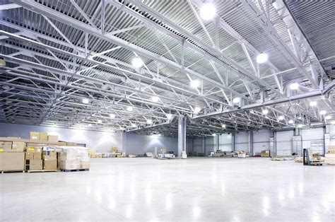 electrical contractors led lighting industrial warehouse eastern time