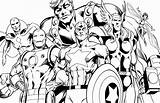 Coloring Superhero Avengers Pages sketch template