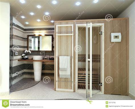 modernes badezimmer mit sauna stockfoto bild 20712700