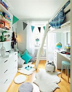 Schmales Kinderzimmer Einrichten : einrichten kinderzimmer junge wei aqua hochbett ~ Lizthompson.info Haus und Dekorationen