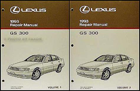 auto repair manual online 1993 lexus es head up display 1993 lexus gs 300 repair shop manual original 2 volume set