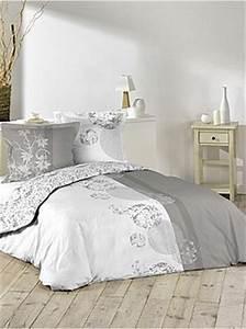 Parure Lit Adulte : parures de lit adulte linge de lit rayon kiabi ~ Teatrodelosmanantiales.com Idées de Décoration