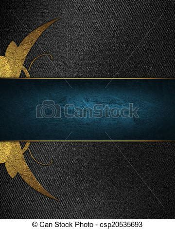 Abstract Black Ribbon Black Background Design by Abstract Black Background With Blue Ribbon With Gold
