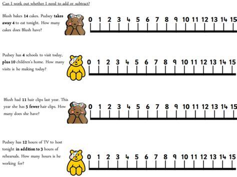 children   addition  subtraction pudsey