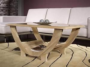Table Bois Blanchi : table basse rodrigue en ch ne massif plateau verre ~ Teatrodelosmanantiales.com Idées de Décoration