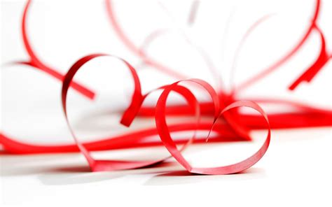 wallpaper red ribbon love hearts red hearts love