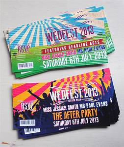 Festival Ticket Wedding Invitations | WEDFEST