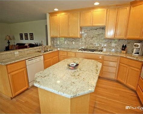 colonial gold granite with maple cabinets search