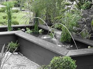 Bassin De Terrasse : petit bassin de jardin avec cascade 5 fontaine jardin ~ Premium-room.com Idées de Décoration