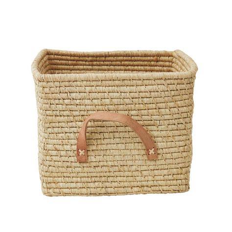 panier de rangement 30 cm naturel rice design enfant