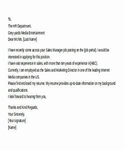 11 email cover letter templates sample example free With email cover letter