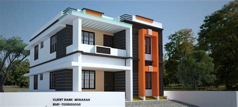 Home Design Ideas In Low Cost by 1292 Sq Ft Low Cost Simple Home Design Free House Plans