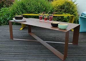 Table D Extérieur : table de salon de jardin en m tal 14 couleurs en vente chez ksl living ~ Teatrodelosmanantiales.com Idées de Décoration