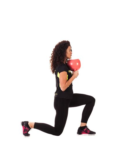kettlebell fitness lunge frame reverse exercises workouts total workout exercise