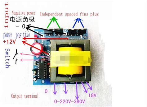 dc ac converter 12v to 220v 380v 18v ac 500w inverter board transformer power in transformers
