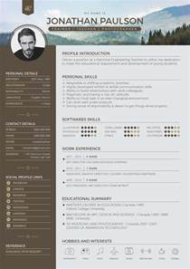 free modern resume template free professional modern resume cv portfolio page cover letter design template