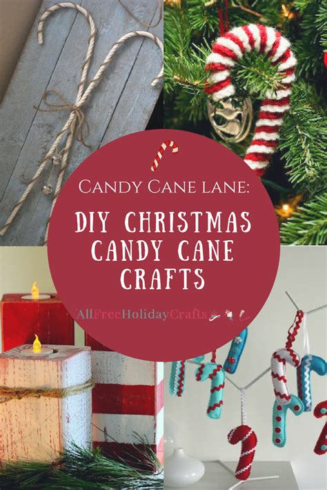 candy cane lane  diy christmas candy cane crafts