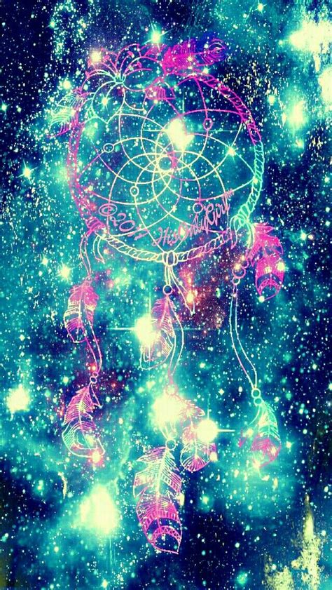 sparkle blue dreamcatcher galaxy iphoneandroid wallpaper