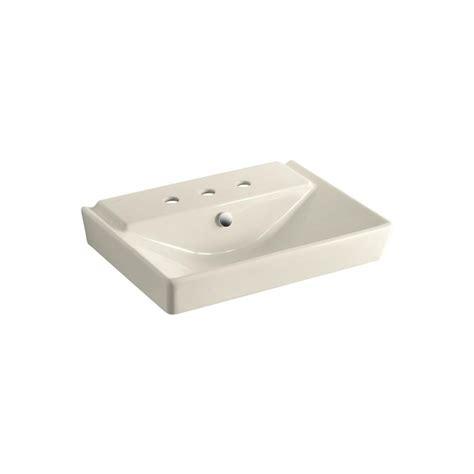 buy kitchen sinks kohler reve 3 in ceramic pedestal sink basin in almond 5027