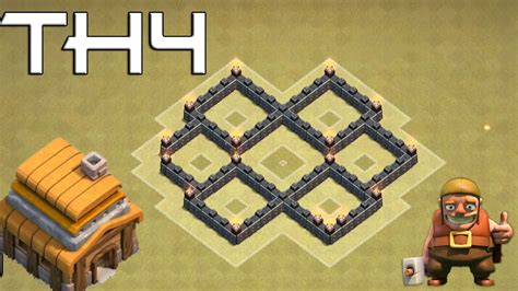 th4 base clash clans hall coc town war layout defense strategy