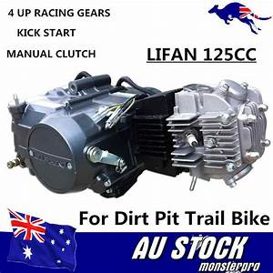 Lifan 125cc 1p54fmi 4up Gears Manual Clutch Engine Motor