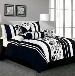 piece king rianna black and white comforter set