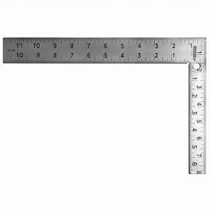 Johnson 8 in x 12 in Easy-Read Steel Carpenter Square