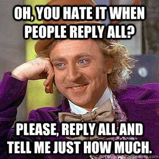 Reply All Meme - when to use reply reply all cc and bcc