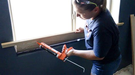 Window Sill Adhesive by How To Add Trim To A Window With Bullnose Corners