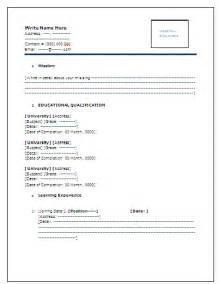 resume format free download for freshers pdf editor format for resume for freshers in engineering