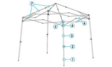 ez  canopy shelter parts